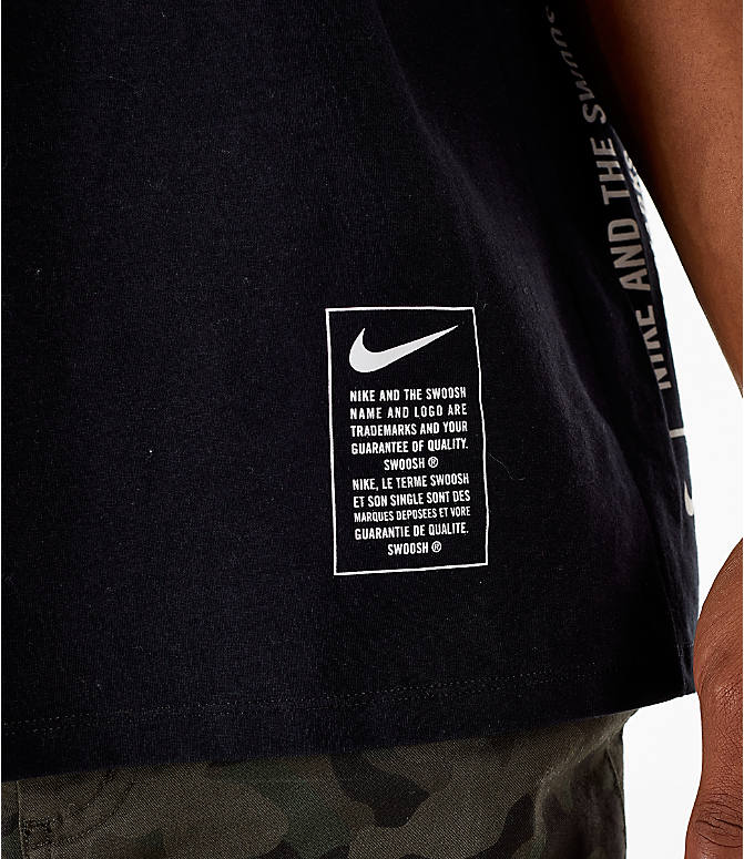 Detail 1 view of Men's Nike Sportswear Microbranding T-Shirt in Black