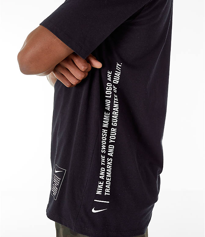 Detail 2 view of Men's Nike Sportswear Microbranding T-Shirt in Black