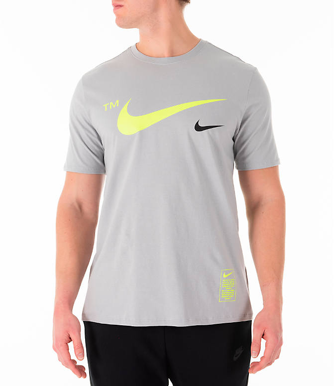 Front view of Men's Nike Sportswear Microbranding T-Shirt in Grey