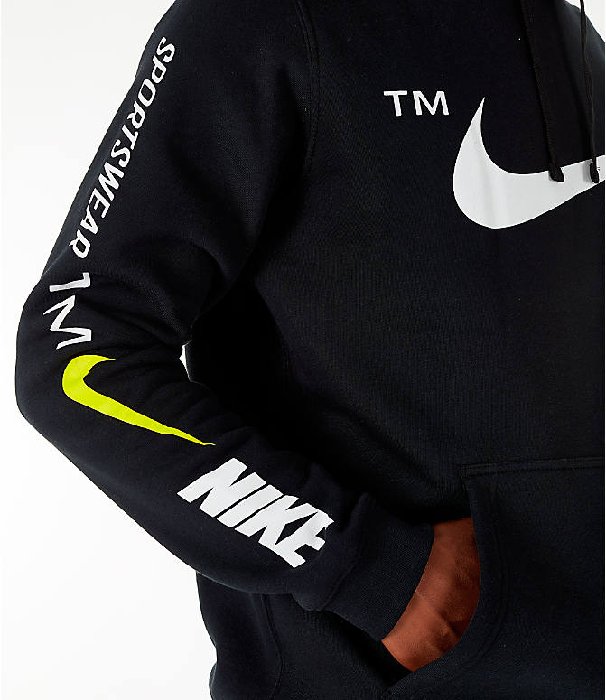 Detail 1 view of Men's Nike Sportswear Microbranding Hoodie in Black