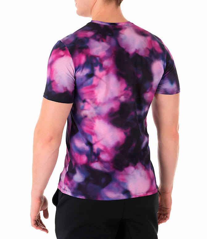 Back Left view of Men's Nike Sportswear Stargazer T-Shirt in Black/Multi