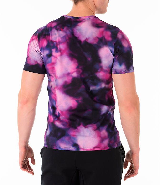 Back Right view of Men's Nike Sportswear Stargazer T-Shirt in Black/Multi