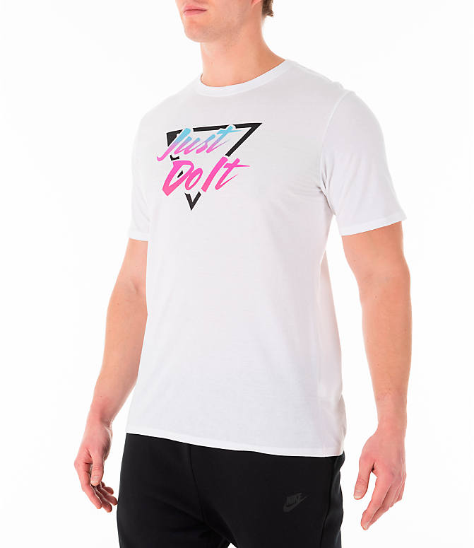 Front Three Quarter view of Men's Nike Sportswear South Beach T-Shirt in White