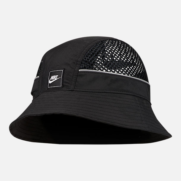 338b6f52 Front view of Nike Sportswear Mesh Bucket Hat in Black