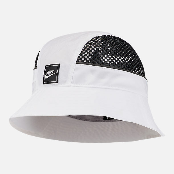 5323a2ef8 Front view of Nike Sportswear Mesh Bucket Hat in White