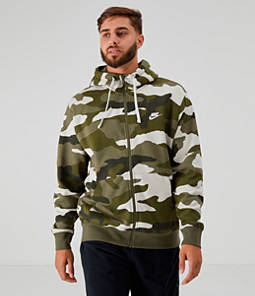 Men's Nike Sportswear Camo Club Fleece Full-Zip Hoodie