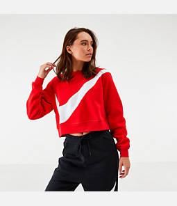 Women's Nike Sportswear Swoosh Fleece Crew Sweatshirt