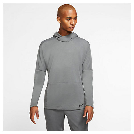 Nike Knits NIKE MEN'S YOGA DRI-FIT HOODIE IN GREY SIZE 3X-LARGE POLYESTER/KNIT