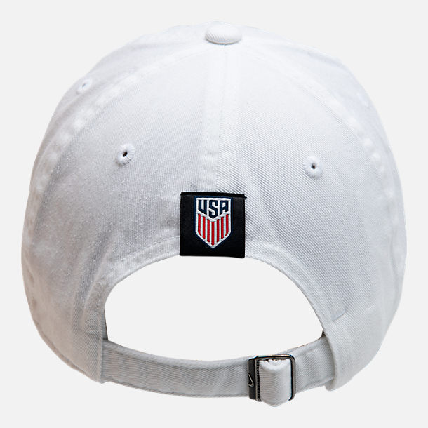 Alternate view of Nike Heritage86 U.S. Soccer Strapback Hat in White/Navy