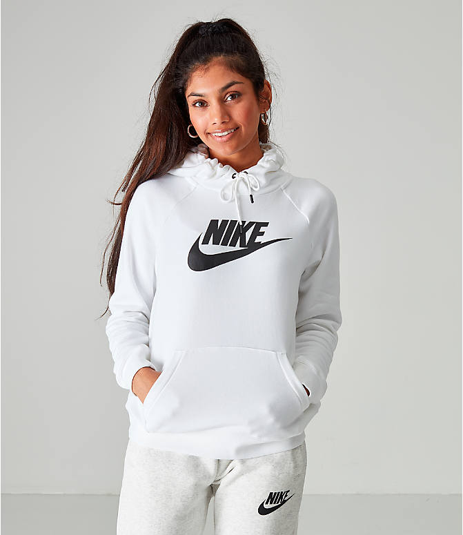 Front view of Women's Nike Sportswear Essential Hoodie in White