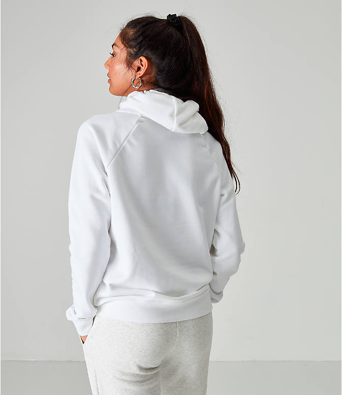 Back Right view of Women's Nike Sportswear Essential Hoodie in White