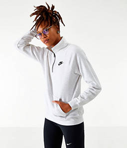 Women's Nike Sportswear Essential Quarter-Zip Fleece Top