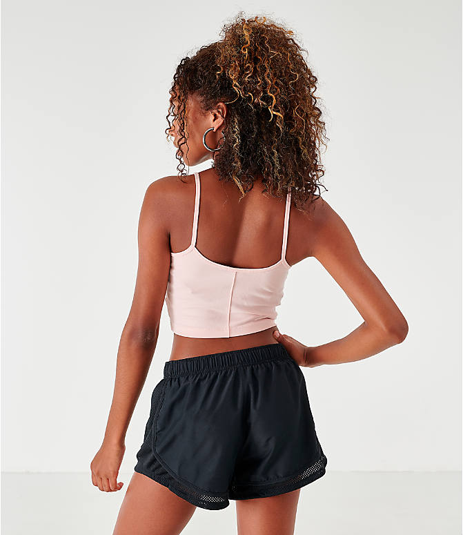 Back Left view of Women's Nike Sportswear Air Crop Tank in Echo Pink