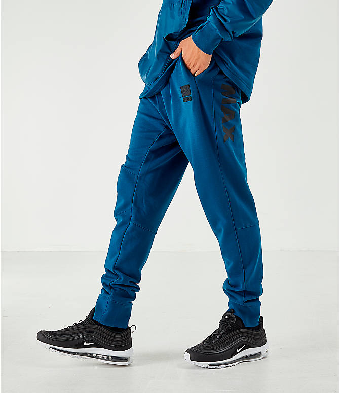 d47223d6fe4 Front view of Men's Nike Air Max French Terry Jogger Pants in Blue