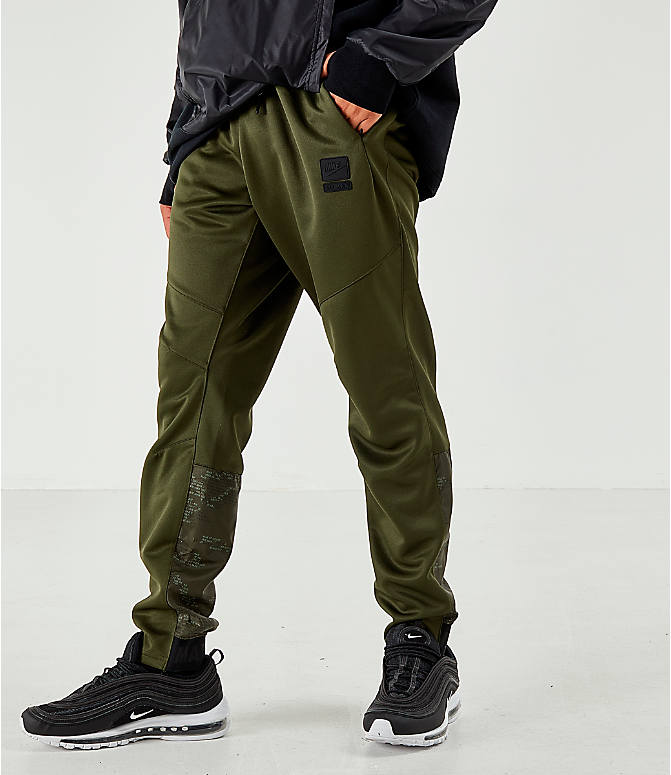 Front view of Men's Air Max Poly Jogger Pants in Green