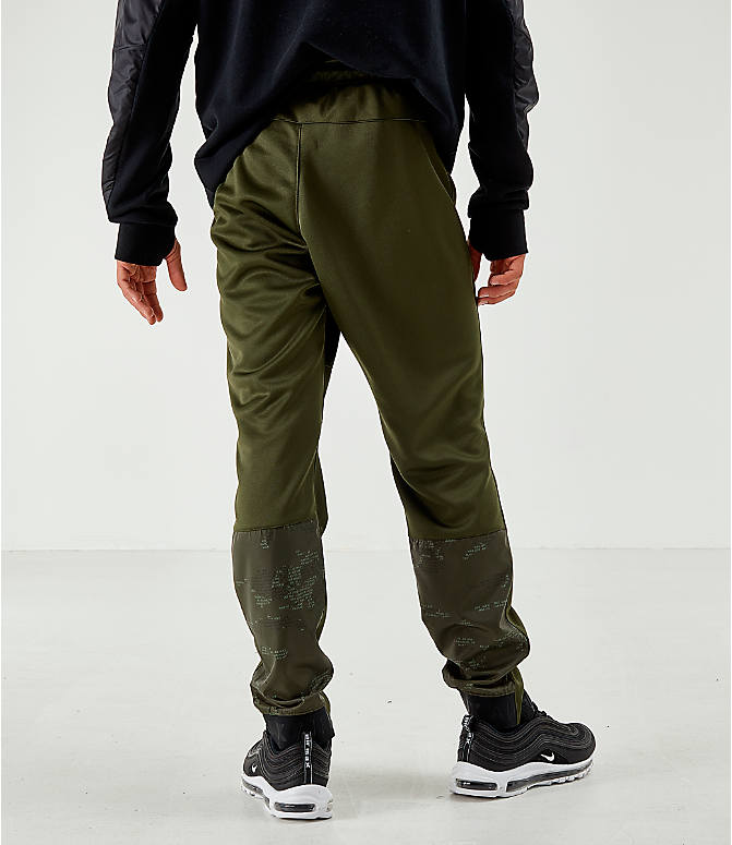 Back Left view of Men's Air Max Poly Jogger Pants in Green
