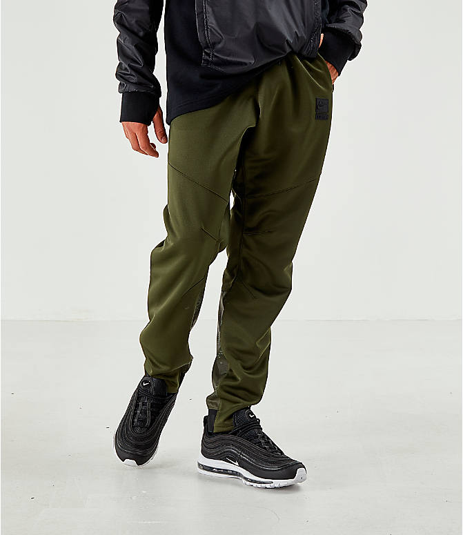 Back Right view of Men's Air Max Poly Jogger Pants in Green