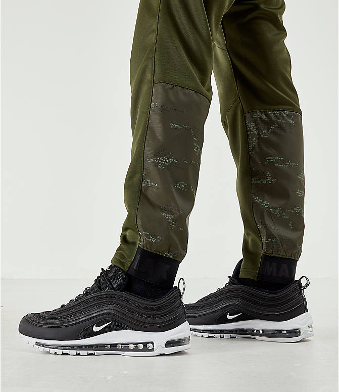 On Model 5 view of Men's Air Max Poly Jogger Pants in Green