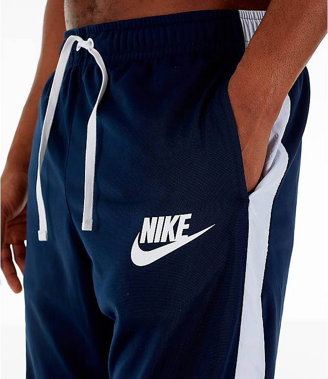 Detail 1 view of Men's Nike Sportswear Hybrid Jogger Track Pants in Obsidian