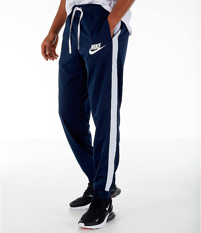 Front view of Men's Nike Sportswear Hybrid Jogger Track Pants in Obsidian
