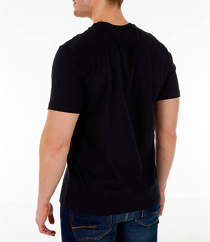 Back Left view of Men's Nike Sportswear Hybrid T-Shirt in Black
