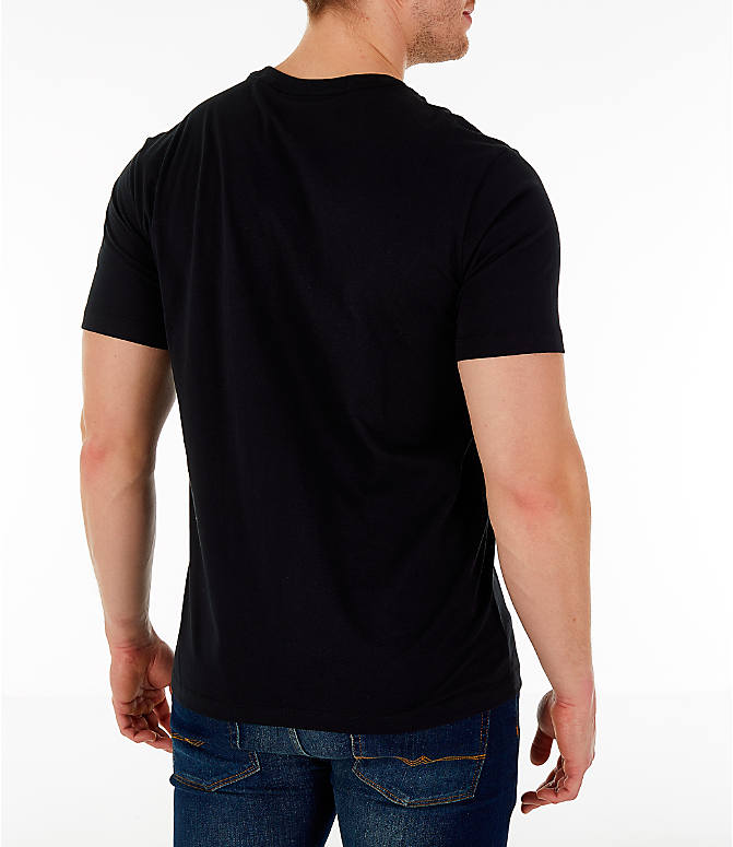 Back Right view of Men's Nike Sportswear Hybrid T-Shirt in Black