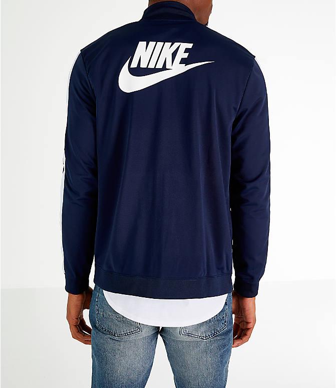 4271204c8d Front view of Men s Nike Sportswear Hybrid Track Jacket in Obsidian White
