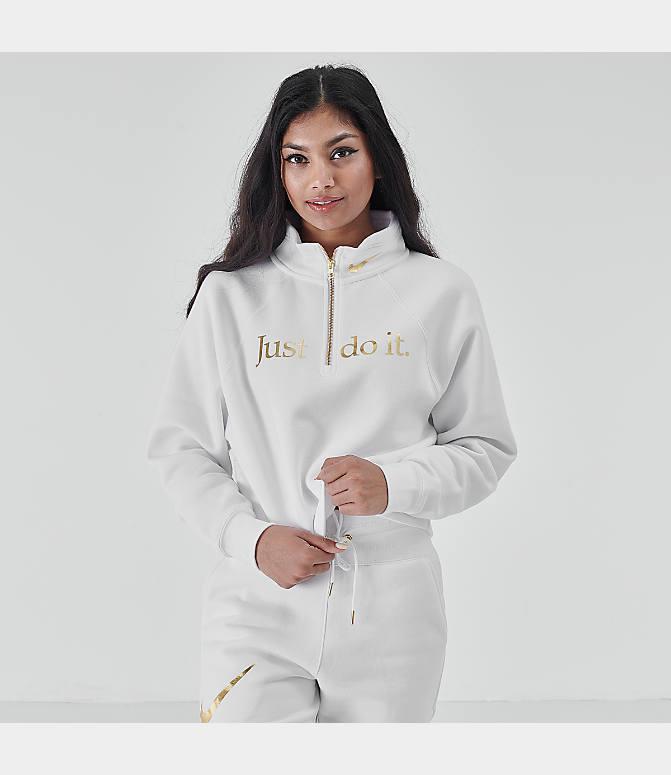 Women's Nike Sportswear Shine Half Zip Fleece Top