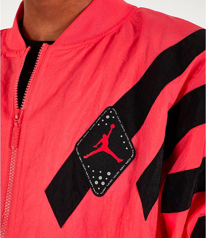 fc458edb4720 Detail 2 view of Men s Air Jordan Retro 6 Legacy Nylon Jacket in Ember Glow