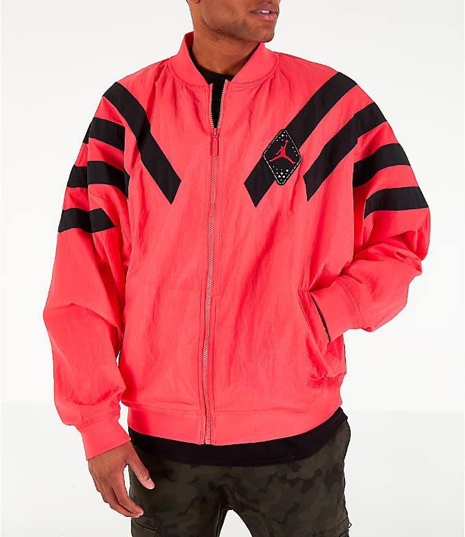 e770217e089a Front view of Men s Air Jordan Retro 6 Legacy Nylon Jacket in Ember Glow