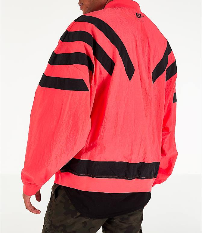 eed4316e2c1 Back Left view of Men's Air Jordan Retro 6 Legacy Nylon Jacket in Ember Glow
