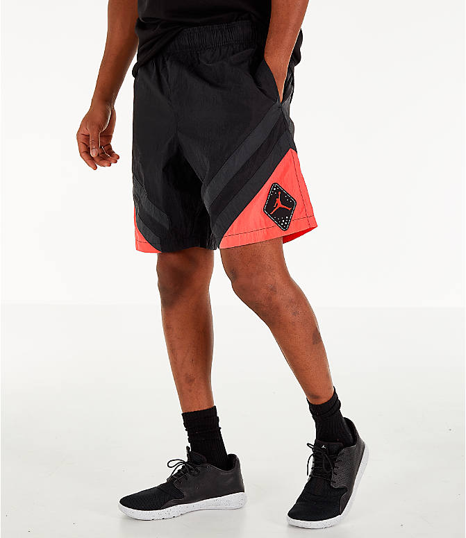 best website 57e7d d5e59 Front view of Men s Air Jordan Retro 6 Sport Legacy Nylon Basketball Shorts  in Black