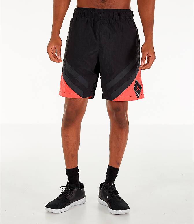 1b87e1f76e1d28 Front Three Quarter view of Men s Air Jordan Retro 6 Sport Legacy Nylon Basketball  Shorts in