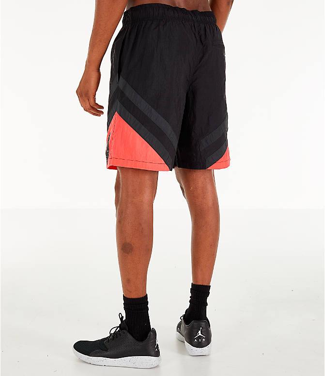 d424b6215be285 Back Left view of Men s Air Jordan Retro 6 Sport Legacy Nylon Basketball  Shorts in Black