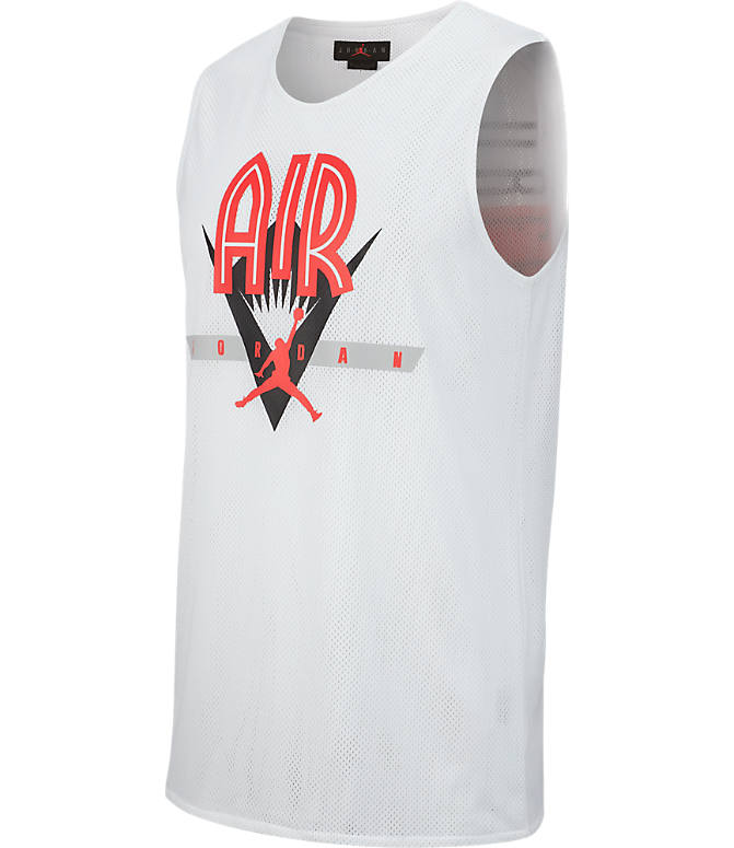 Front view of Men's Jordan Retro Flight Nostalgia 23 Jersey in White