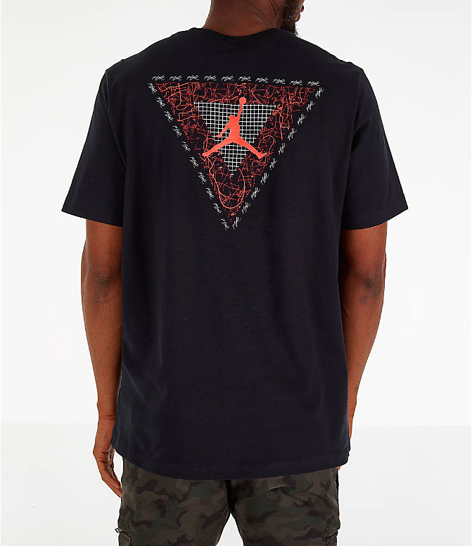 7af4bcbb9aed68 Front view of Men s Air Jordan Retro 4 Splatter T-Shirt in Black
