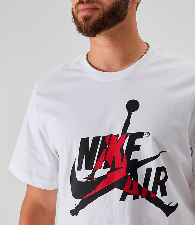 Detail 1 view of Men's Jordan Mashup Classics T-Shirt in White/Red