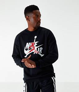 Men's Jordan Mashup Jumpman Classics Fleece Crewneck Sweatshirt