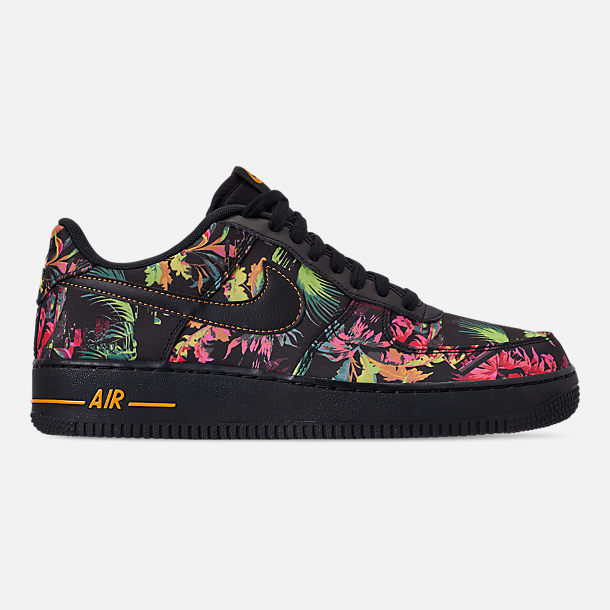Right view of Men's Nike Air Force 1 '07 LV8 Floral Casual Shoes in Black/Multi Color/Canyon Gold/Lucid