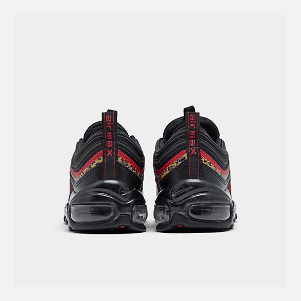 Left view of Women's Nike Air Max 97 Casual Shoes in Black/University Red/Print
