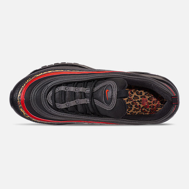 Top view of Women's Nike Air Max 97 Casual Shoes in Black/University Red/Print