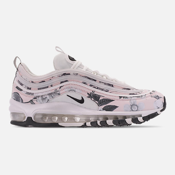 Right view of Women's Nike Air Max 97 Print Casual Shoes in Pale Pink/Black/White