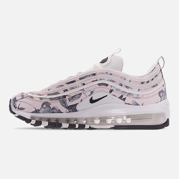 Left view of Women's Nike Air Max 97 Print Casual Shoes in Pale Pink/Black/White