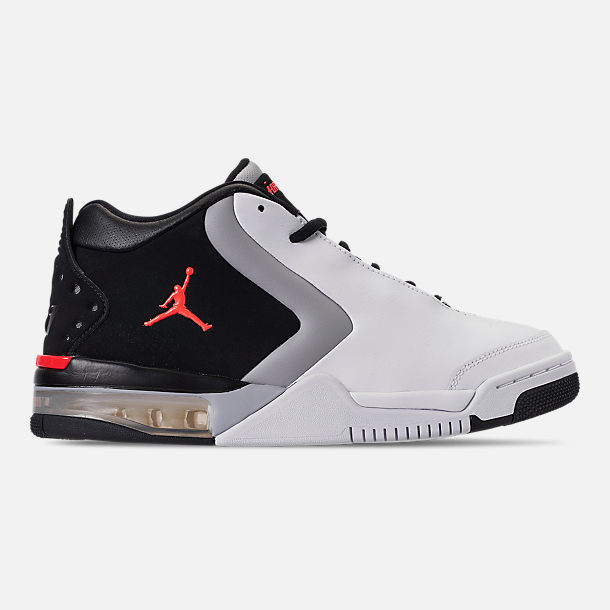 Right view of Men s Air Jordan Big Fund Basketball Shoes in White Infrared  23  5fa0e9308