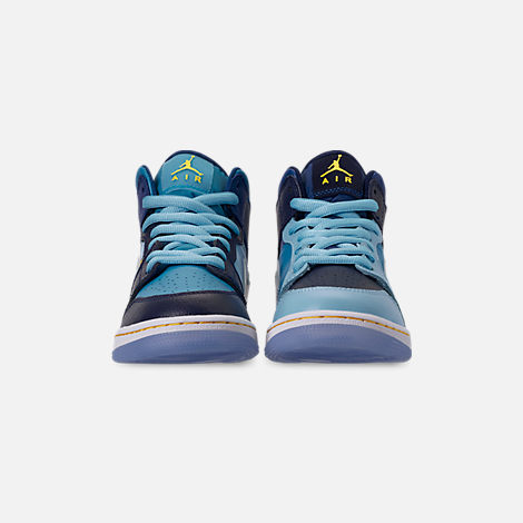Front view of Boys' Big Kids' Air Jordan 1 Mid Fly Casual Shoes
