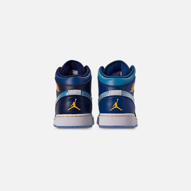 Back view of Boys' Big Kids' Air Jordan 1 Mid Fly Casual Shoes