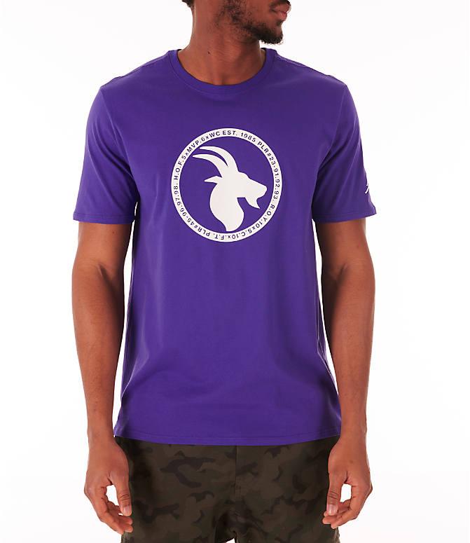 336faa4e9 Front view of Men's Jordan Sportswear GOAT Logo T-Shirt in Germain Blue