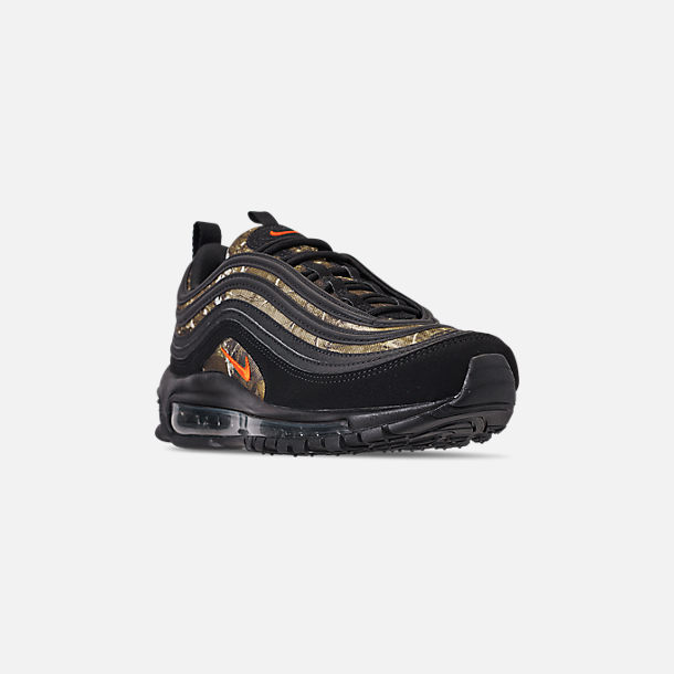 e44b0c71b511f Three Quarter view of Men's Nike Air Max 97 Realtree Casual Shoes in Black/ Team