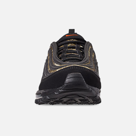 Front view of Men's Nike Air Max 97 Realtree Casual Shoes in Black/Team Orange/Black