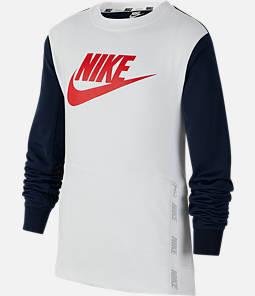 Boys' Nike Sportswear Hybrid Crewneck Sweatshirt
